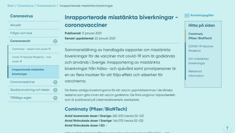 Ruotsin koronarokotekuolemat