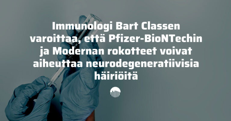 Immunologi: mRNA-rokotteet voivat aiheuttaa neurodegeneratiivisia häiriöitä