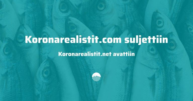 Koronarealistit.com sivusto suljettiin