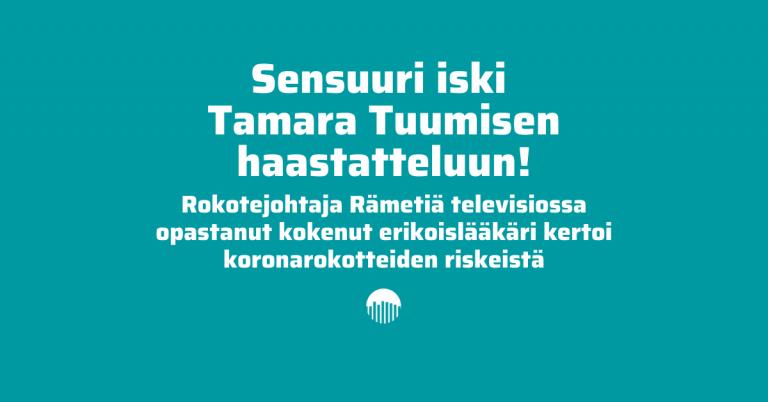 Sensuuri iski Tamara Tuumisen haastatteluun!
